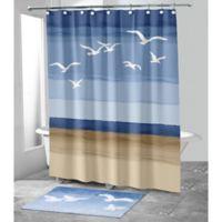 Avanti Seagulls Stall 54-Inch x 78-Inch Shower Curtain