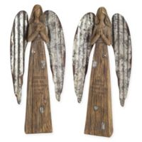 Decorative Memoriam Angels in Brown (Set of 2)