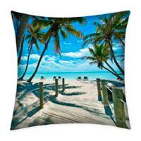Destination Summer Key West Multicolor Indoor/Outdoor Square Throw Pillow