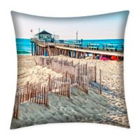 Destination Summer Ocean Grove Indoor/Outdoor Square Throw Pillow