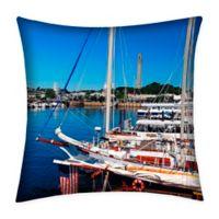 Destination Summer Provincetown Indoor/Outdoor Square Throw Pillow