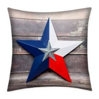 Destination Summer Texas Star Indoor/Outdoor Square Throw Pillow