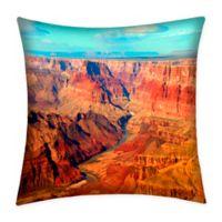 Destination Summer Grand Canyon Indoor/Outdoor Square Throw Pillow