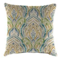 Jordan Manufacturing Indoor/Outdoor 20-Inch Square Throw Pillow in Avaco Blue