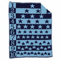 Number Star Blanket in Navy/Blue