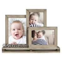 MCS 3-Photo Snuggle Rustic Wood Pallet Photo Frame