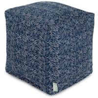 Majestic Home Goods™ Polyester South West Ottoman in Navy