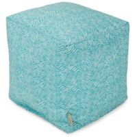 Majestic Home Goods™ Polyester South West Ottoman in Teal
