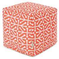 Majestic Home Goods™ Polyester Aruba Ottoman in Orange