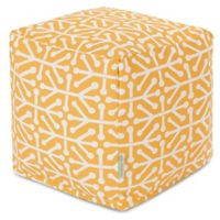 Majestic Home Goods™ Polyester Aruba Ottoman in Citrus
