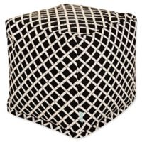 Majestic Home Goods™ Polyester Bamboo Ottoman in Black