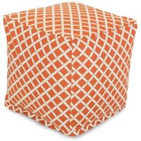 Majestic Home Goods™ Polyester Bamboo Ottoman in Burnt Orange