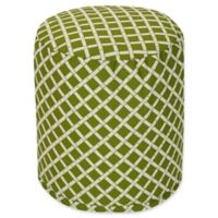 Majestic Home Goods™ Polyester Bamboo Ottoman in Sage