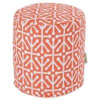 Majestic Home Goods™ Polyester Aruba Ottoman in Orange