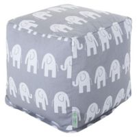 Majestic Home Goods™ Cotton Ellie Ottoman in Gray