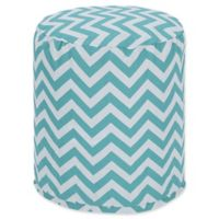 Majestic Home Goods™ Polyester Chevron Ottoman in Teal