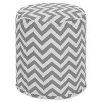 Majestic Home Goods™ Polyester Chevron Ottoman in Gray