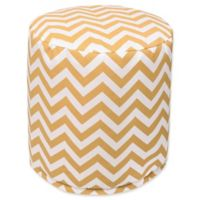 Majestic Home Goods™ Polyester Chevron Ottoman in Yellow