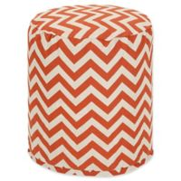 Majestic Home Goods™ Polyester Chevron Ottoman in Burnt Orange