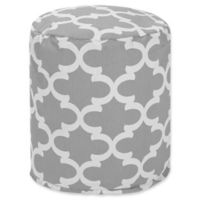 Majestic Home Goods™ Polyester Trellis Ottoman in Gray