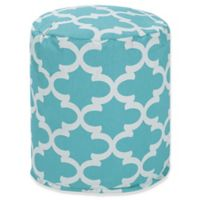 Majestic Home Goods™ Polyester Trellis Ottoman in Teal