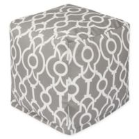 Majestic Home Goods™ Polyester Athens Ottoman in Gray