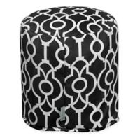 Majestic Home Goods™ Polyester Athens Ottoman in Black