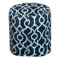 Majestic Home Goods™ Polyester Athens Ottoman in Navy
