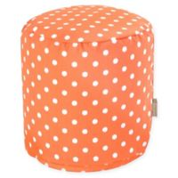 Majestic Home Goods™ Polyester Ikat Dot Ottoman in Orange