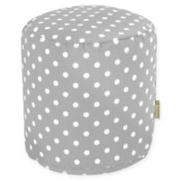Majestic Home Goods™ Polyester Ikat Dot Ottoman in Gray