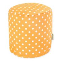 Majestic Home Goods™ Polyester Ikat Dot Ottoman in Citrus