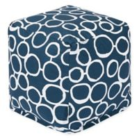 Majestic Home Goods™ Cotton Fusion Ottoman in Navy