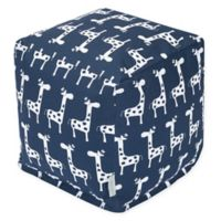 Majestic Home Goods™ Cotton Stretch Ottoman in Navy