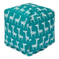 Majestic Home Goods™ Cotton Stretch Ottoman in Turquoise