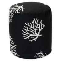 Majestic Home Goods™ Polyester Coral Ottoman in Black