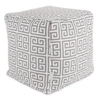 Majestic Home Goods™ Polyester Towers Ottoman in Gray