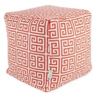 Majestic Home Goods™ Polyester Towers Ottoman in Orange