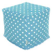 Majestic Home Goods™ Cotton Small Polka Dot Ottoman in Aquamarine