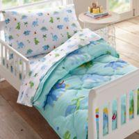 Wildkin Dinosaur Land Toddler Bedding Set in Blue