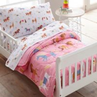 Wildkin Horses 4-Piece Toddler Bedding Set in Pink