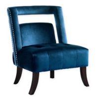 Inspired Home Velvet Fergie Chair in Navy