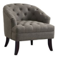 Inspired Home Linen Wanda Chair in Charcoal