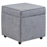 Inspired Home Linen Adjustable Francis Ottoman in Light Grey