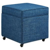 Inspired Home Linen Adjustable Francis Ottoman in Blue