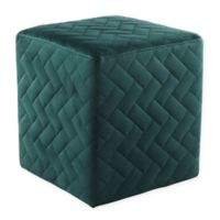 Inspired Home Velvet Adjustable Marcus Ottoman in Hunter Green