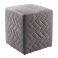 Inspired Home Velvet Adjustable Marcus Ottoman in Grey