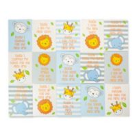 Little Me Zoo Animal Milestone Cards in Blue