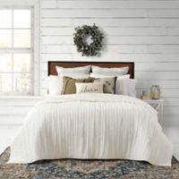 Bee & Willow™ Home French Vintage Ruffled Full/Queen Quilt Set in White