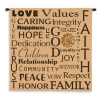 Pure Country 52-Inch x 52-Inch Family Values Tapestry