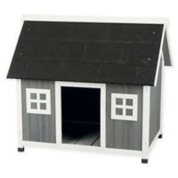 Trixie Pet Products Medium/Large Barn-Style Dog House in Grey
